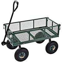 edsal Sandusky cw3418carros de muscular utilidad de acero jardín Wagon, 181kg capacidad de carga, 552mm Altura x 864mm longitud x 457mm ancho, verde