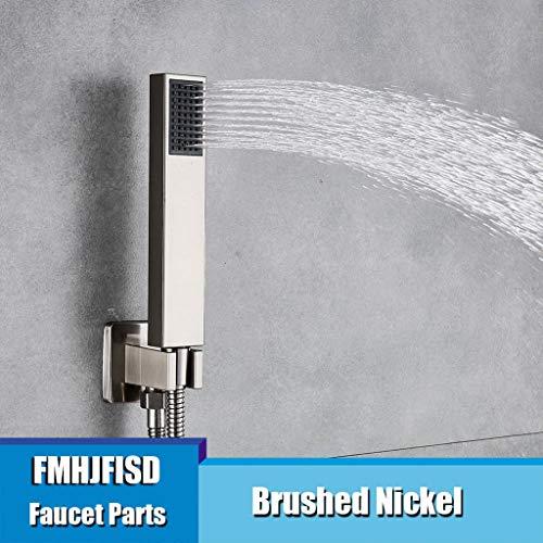 WJDHSS Duschkopf Universalbadezimmer-Handdusche-Goldener Wasser-Einsparungs-Rechteck-HandShower-Kopf Freies Verschiffen, Nickel -