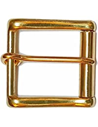 BRASS HEAVY DUTY ROLLER BELT BUCKLE - suitable for snap fit belts 1.5 inches wide (38 - 40 mm)