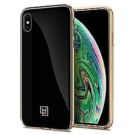 Spigen iPhone XS Max Case [LA MANON étui] Chic Glossy Design and Perfect Grip For iPhone XS Max (2018) – Gold Black