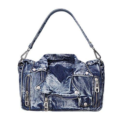Frauen Neu Umhängetasche Mode Persönlichkeit Handtasche Blue