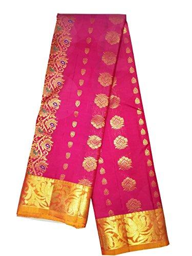Pure Pattu Saree ,Hot Pink Color Hand Woven Saree (Pure pattu, woven...