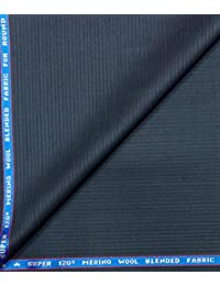 Raymond Super 120's ( 45% ) Merino Wool Blue Unstitched Suit Fabric - 3 metres
