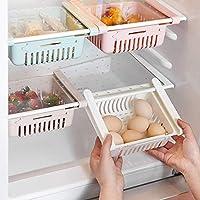 HapiLeap Frigoríficos Organizadores de Cajones - Caja de Almacenamiento del Refrigerador Mantenga el Refrigerador Ordenado Estante Soporte Contenedor de Alimentos Cestas (4 Pack)