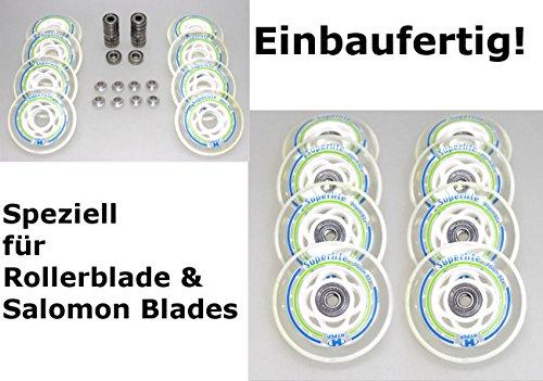 HYPER 8er Rolle Superlite 80mm Salomon Rollerblade Skate Inliner ABEC7+Spacer