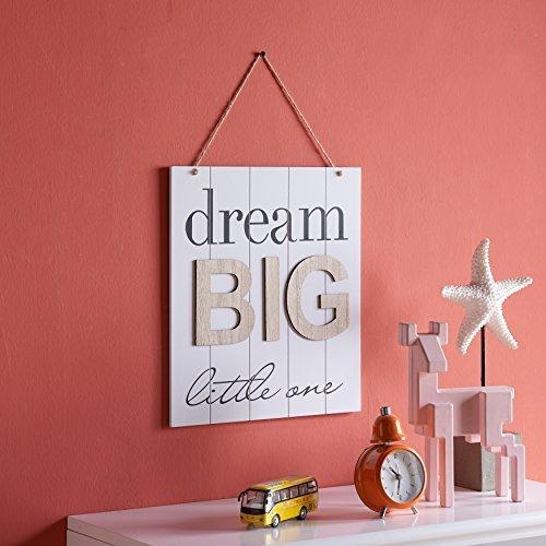 Danya B KS18909B Kinder Inspirierend Zitat aus Holz Wand-Dekor-Plaque - Traum Big Little One (Inspirierende Wand-dekor)
