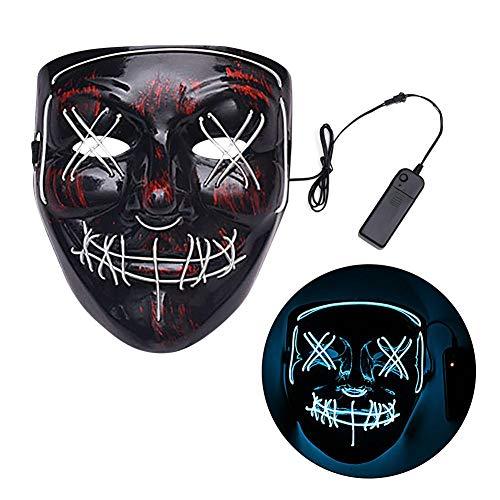 Finelyty Halloween LED Scary Mask, Leuchten Purge Maske Für Festival Cosplay Kostüm