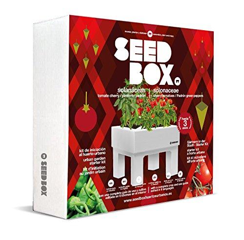 SeedBox SBCOSO - Huerto Urbano de Tomates Cherry y pimientos de padrón (Colección solanáceas)