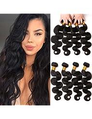 Tissage brésilien en lot de 4 Body Wave cheveux naturel couleur en solde ondulé extension vente vierge Humain 12 14 16 18 Inches