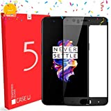 CASE U Full Glue OnePlus 5 Full Coverage 5D Tempered Glass, Full Edge-to-Edge 5D Screen Protector (Black)-Prime Day Sale