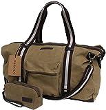 Weekender für Damen und Herren - Khaki Schultertasche aus Canvas - Raziola Meadow Reisetasche