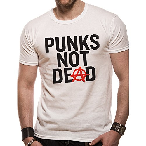 Favo Punks CID - - not Dead T-shirt Weiß White bianco L