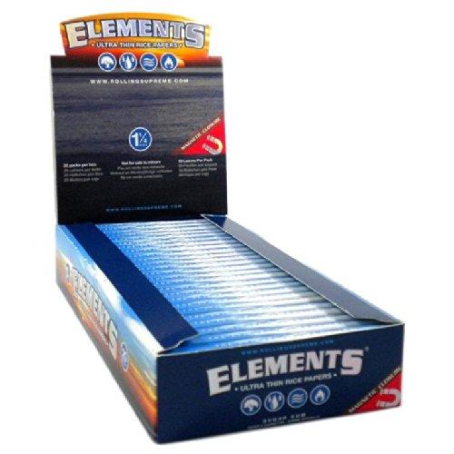 Elements Supreme, cartine ultra sottili, lunghe circa 30 cm, con chiusura magnetica e 2 blocchetti...