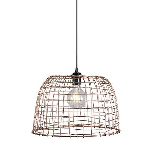 QAZQA Lampada a sospensione Basket 40 - Moderno/Rustico, - Metallo - Rame - Tondo - adatto per LED - E27 - Max. 1 x 60 Watt