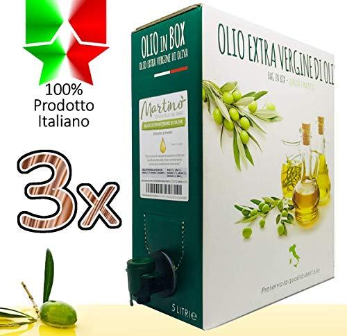 Nuova annata 2018 - confezione 15 litri di 100% italiano olio extravergine di oliva - bag in box