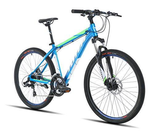 Mens 26'' Mountain Bikes Bicycles 27 Speeds SHIMANO aluminium Frame (Blue)