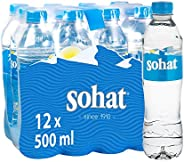 Sohat Natural Mineral Water - 0.5 litres (Pack of 12)