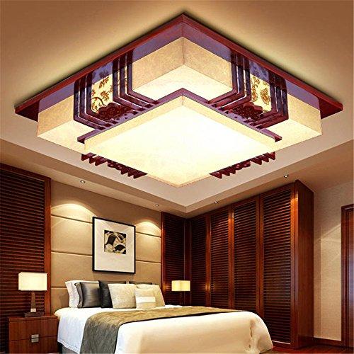 BRIGHTLLT Led Deckenleuchte Lampen Schlafzimmer Licht Lampen Chinesischen lange Partei Wohnzimmer Restaurant real Holz zimmer Pergament, Papier weiß, 530 mm