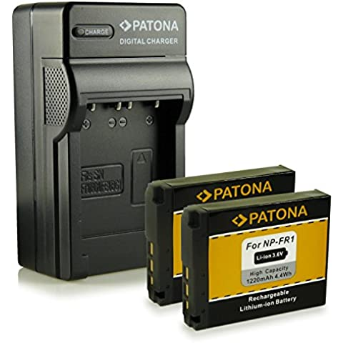 Novità - 4in1 Caricabatteria + Batteria come NP-FR1 per Sony Cybershot DSC-F88 | DSC-P100 | DSC-P120 | DSC-P150 | DSC-P200 | DSC-T30 | DSC-T50 | DSC-V3