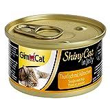 GimCat ShinyCat in Jelly - Comida para gatos con pescado en gelatina para gatos adultos - Atún con pollo - 24 latas (24 x 70 g)