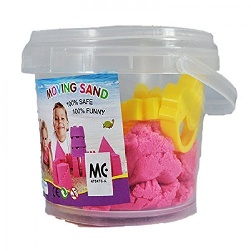 Skyfun 1 Kg Moving Kinetic Universe Sand Tub Play Set Beach Toy Molds Kids Amazing Space Active Magic Gluten Free Clay Sand Dough Tub Box with Moulded Toys (1 Kg Round Tub)