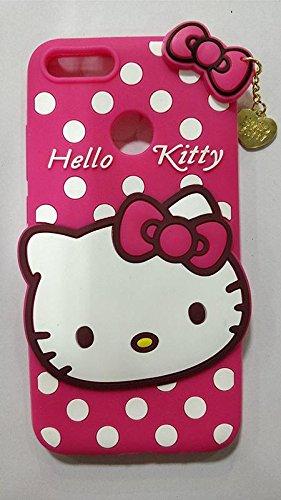 JIZZO REDMI A1 /MI A1 Girl's Back Cover Cute Hello Kitty Silicon...