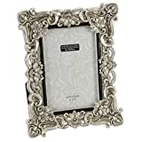 Floral Antique Silver Photo Frame 4 x 6
