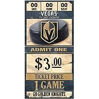 WinCraft Vegas Golden Knights NHL Ticket Schild