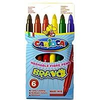 Carioca Bravo Süper Yıkanabilir Keçeli Boya Kalemi 6'Li