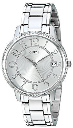 GUESS Women's Quartz Stainless Steel Casual Watch, Color:Silver-Toned (Model: U0929L1)