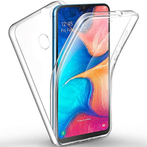 AROYI Samsung Galaxy A20 Hülle 360 Grad Handyhülle, Silikon Crystal Full Schutz Cover [2in1 Separat Hart PC Zurück + Weich TPU Vorderseite] Vorne & Hinten Schutzhülle für Samsung Galaxy A20
