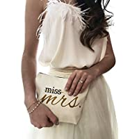 Future Mrs Canvas Makeup Bag Bride Gift Make Up Pouch Cosmetic Pouch Cosmetic Bag Makeup Organizer Bride To Be Gift Bridal Shower Gift