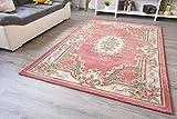 Moderner Orientteppich May in Rose Weicher Handtuft Orient Teppich, Größe: 90x160 cm