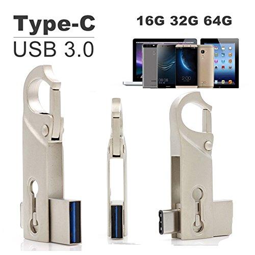 SETAYO 64GB USB-C auf USB 3.0 Flash Drive 2 in 1 OTG Flash Laufwerk USB 3.1 Type C und USB 3.0 Speicherstick für MacBook Pro, Samsung Chromebook Plus, Nexus 6P 5X, Google Pixel, LG G5, HTC 10 und mehr (Stil D)
