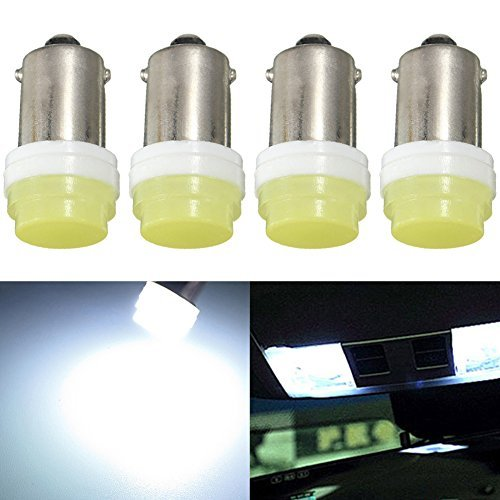 Taben BA9 BA9S 53 57 1895 64111 Blanc 1 W de voiture véhicule Super Bright BA9S ampoules LED utilisé pour porte latérale Courtois lumières carte Lampes (lot de 2)