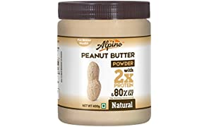 Alpino Unsweetened Natural Peanut Butter Powder, 400g