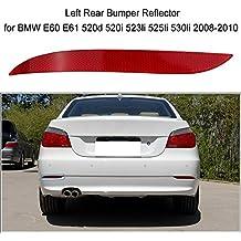KKmoon Reflector Posterior Izqueirda Lens Rojo Bumper Luz Antiniebla 63147183913 para BMW E60 E61 520d 520i 523li 525li 530li 2008-2010
