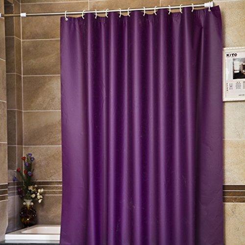 Nibesser Duschvorhang Anti-Schimmel Anti-Bakteriell wasserdichte Duschvorhänge für Badezimmer 180cm x180cm - Duschvorhang Lila