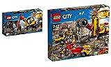 LEGO City 2er Set: 60185 Power-Spalter für den Bergbau + 60188 Bergbauprofis an der Abbaustätte