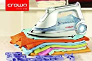 Crownline Dry And Steam Iron [si-144] , White