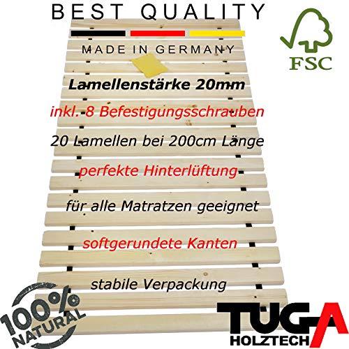 TUGA-Holztech unbehandeltes Naturholz Rollrost Rolllattenrost 100x200cm bis weit über 200Kg Flächenlast Qualitätsarbeit aus Deutschland unbehandelt frei von Chemie reines Naturprodukt