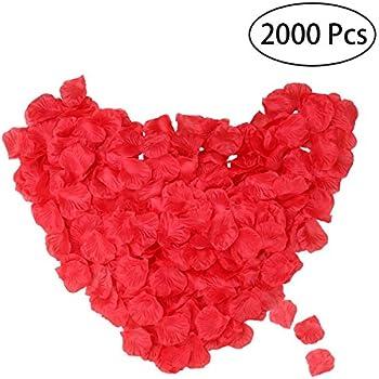 2000pcs Petale de Rose, DigHealth Pétales de Roses Mariage, Rosé Pétale de Rose Artificielle, Pétale de Fleur pour Décoration, La Saint-Valentin et Baptême