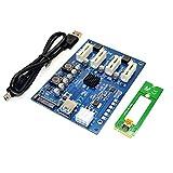 Cikuso M.2 NGFF PCI-E PCI Erweiterungskarte Riser Adapter 4 PCI-E PCIe Steckplatz Adapter Port PCIE Express Karten-Multiplizierer Fuer den Bergbau