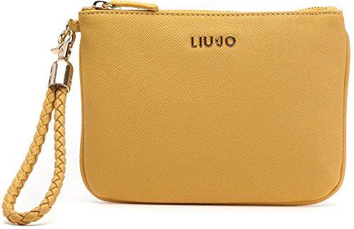 LIU JO, borsa da donna, Borsetta, Borsa da sera, Pochette, Giallo, 21 x 16 x 0cm (LxHxP)