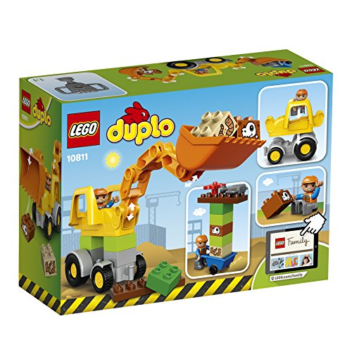 LEGO 10811 Duplo Town Backhoe Loader Construction Set – Multi-Coloured