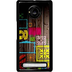 Casotec Stamps on Wooden Texture Design 2D Hard Back Case Cover for Micromax YU Yuphoria AQ5010 / AO5010