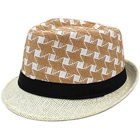 cappello primavera e l'estate uomini di mezza età di/Cappelli di jazz/Tempo libero vecchio paglia ombra (Ombra Stripe Tie)
