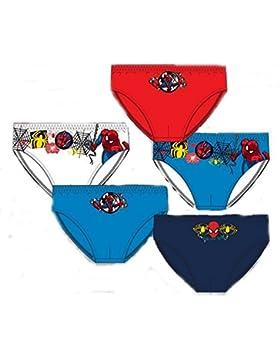 Pack de 5 slips diseño SPIDERMAN (Marvel) 5 diseños diferentes tallas 2/3, 4/5 y 6/8 años (100% algodon)