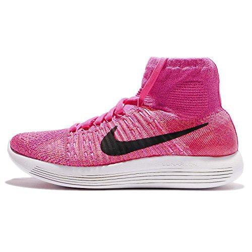 Nike Wmns Lunarepic Flyknit, Chaussures de Running Entrainement Femme Rose - Rosa (Pink Pow / Blk-Vvd Prpl-Atmc Pnk)
