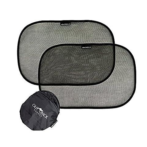 PACK DE 2 PARE-SOLEIL noirs pour fenêtres latérales de voiture